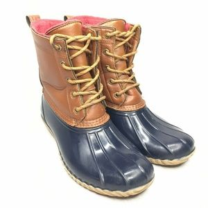 Tommy Hilfiger Hail Duck Boots Leather Lined Lace